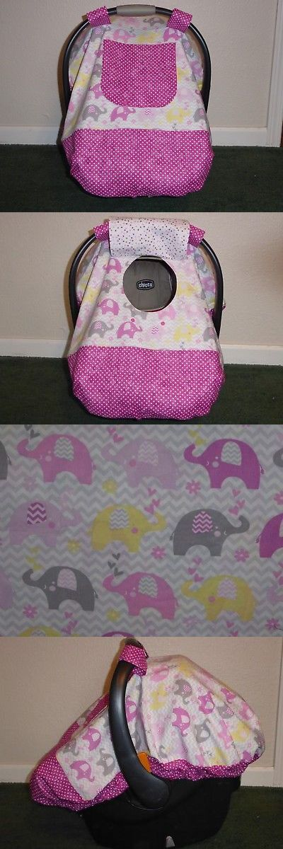 Car Seat Accessories 66693: **Elephants** Wind Proof W Peekaboo Opening Handmade Baby Car Seat Canopy-Cover -> BUY IT NOW ONLY: $49.99 on eBay!