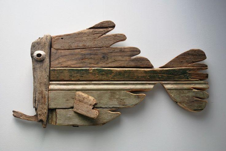 Drijfhout 24 Driftwood fish made at Dijkstijl.com