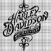 HARLEY DAVIDSON Graphghan Pattern - via @Craftsy