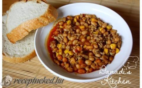 Chili con carne – chilis bab recept fotóval