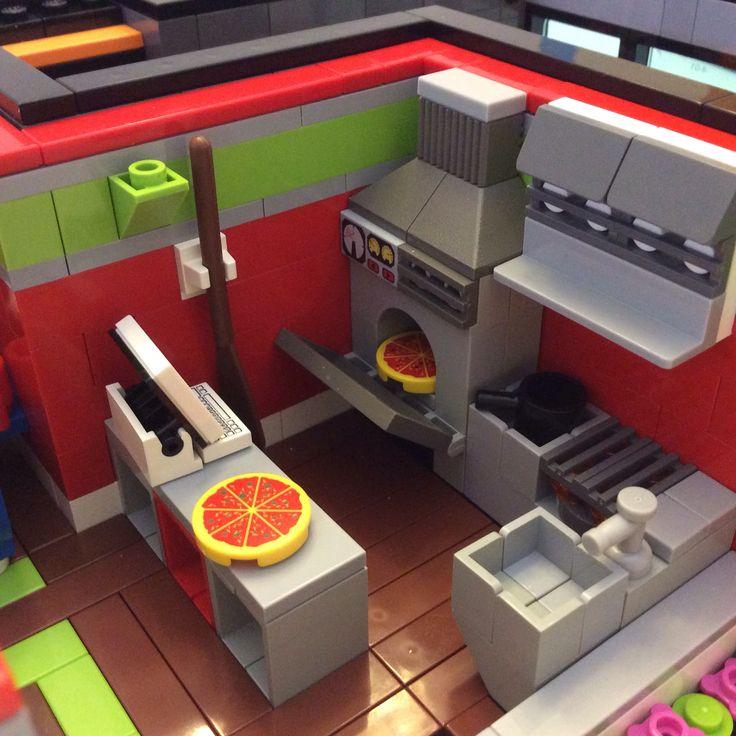 Modular city bike shop pizza building