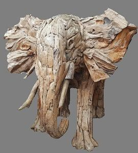 Large driftwood elephant. If you like driftwood and you want to add a stylish creation to your garden, with a longer life span to enjoy for many years, our elephant is the answer! For more information on our driftwood elephant, please visit our webpage, http://www.driftwoodhorse.co.uk/driftwood-elephant.html or call us on ​0845 3731 832