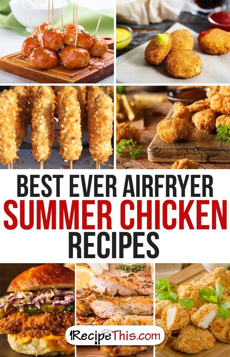 Airfryer Recipes | Best Ever Airfryer Summer Chicken Recipes from RecipeThis.com