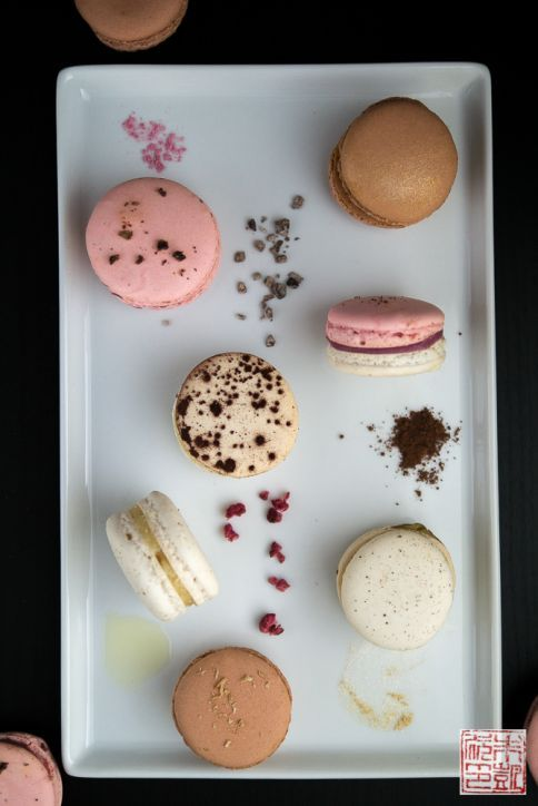 Macarons from the Pierre Herme workshop at SF Cooking School. Post on www.dessertfirstgirl.com