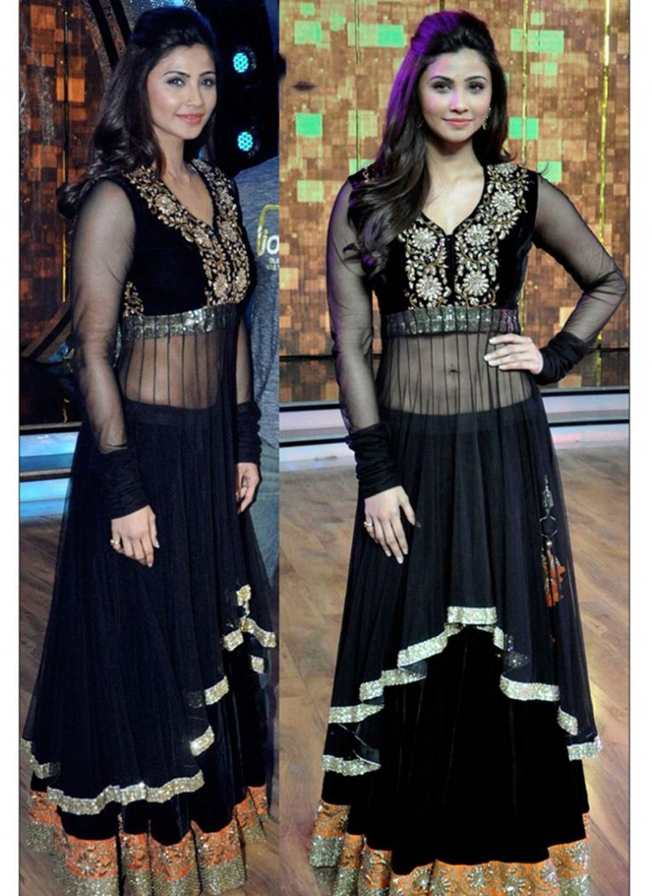 Desirable Daisy Shah Black Party Party Wear Lehenga Choli