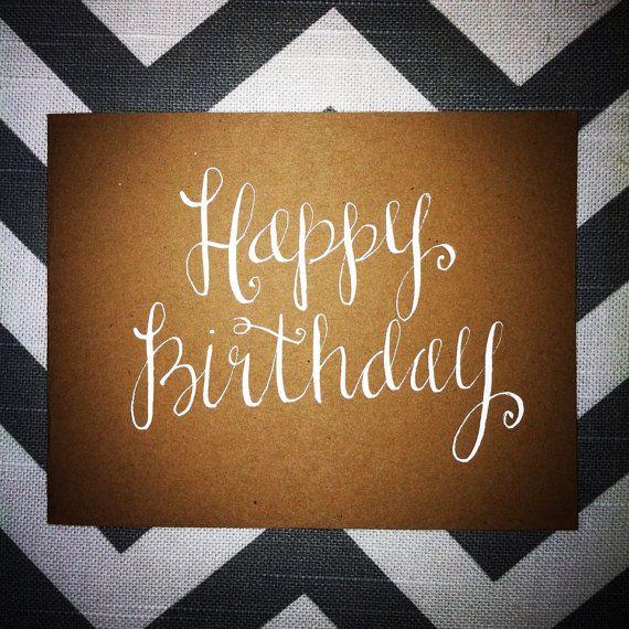 Sweet Sayings Handwritten Note Card Happy Birthday