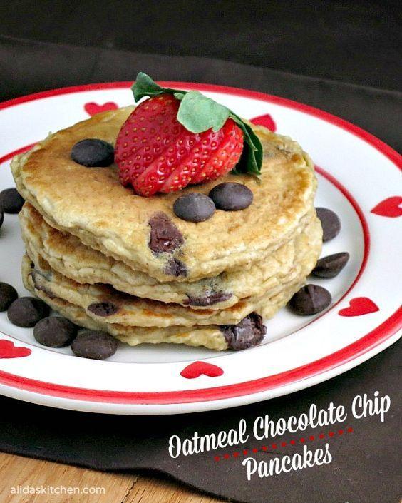 Hungry Girl Oatmeal Chocolate Chip Pancakes