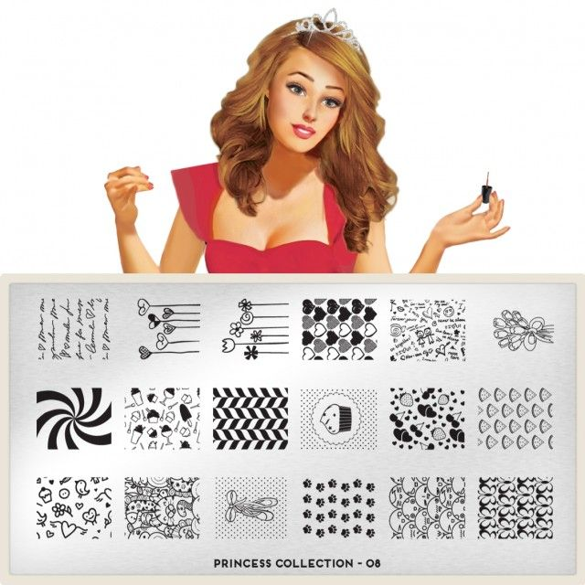 moyou Nail Art design Image Plates-Princess collection 8