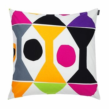 Even the simplest shapes can cause a stir. Marimekko Cocktail Ecru/Multi Throw Pillow - $48