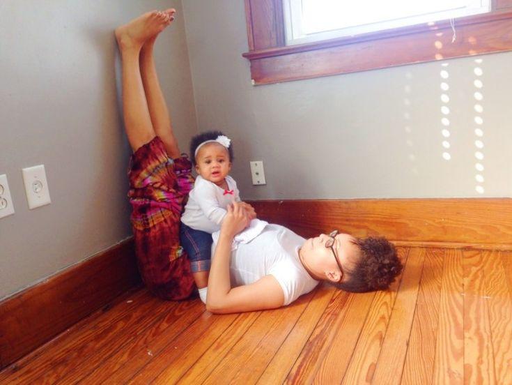 Legs-Up-the-Wall Pose Modified with Baby   Viparita Karani   SpoiledYogi.com
