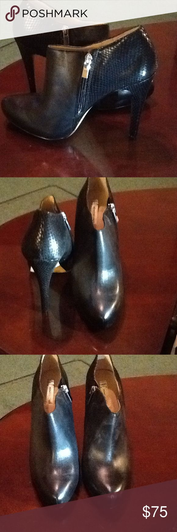 INC BLACK ANKLE HIGH HEEL SHOES INC INTERNATIONAL CONCEPTS BLACK ANKLE HIGH HEEL SHOES SIZE 10M NEW WITH BOX INC International Concepts Shoes Heels
