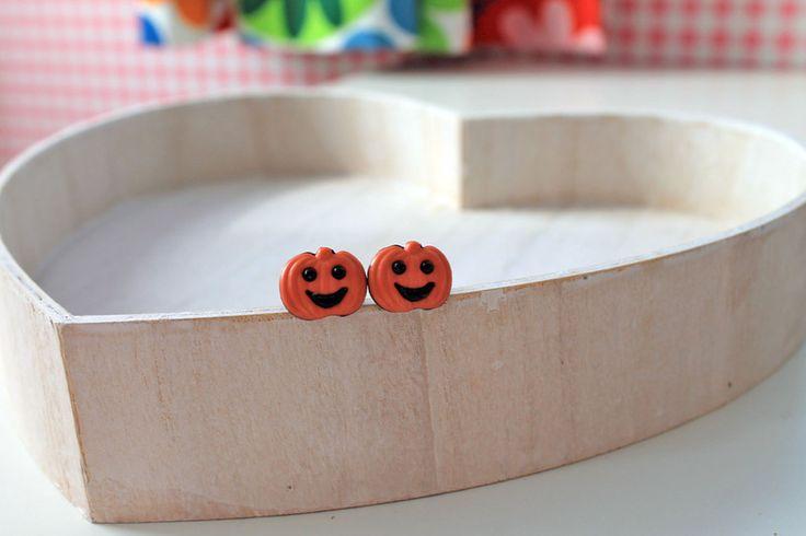Halloween in DaWanda Plugs – Pumpkin plugs for gauged ears 6mm 2G Halloween – a unique product by dinafragola on DaWanda