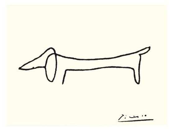Picasso Dachshund --I'm gonna get a sharpie and make my own!! :)