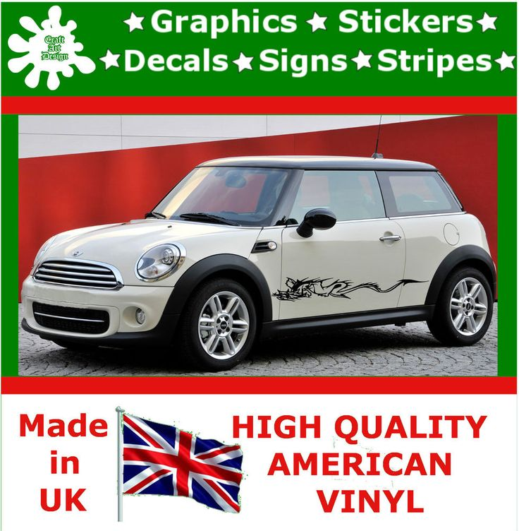 """10"""" High Car Side Stripes Graphic Decal Vinyl Stickers Van Auto Rally Race F1_56"""