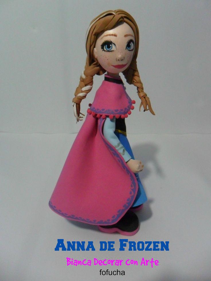 Fofucha  Princesas Anna de Frozen