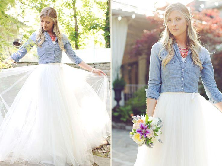 Denim wedding one day for Wedding dresses for tomboy brides