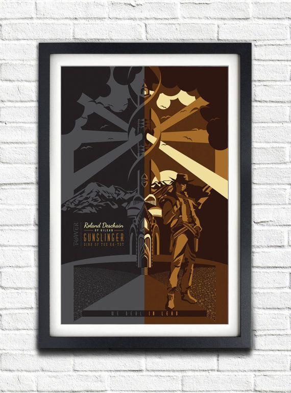 The Dark Tower  Roland Deschain  19x13 Poster by bensmind on Etsy