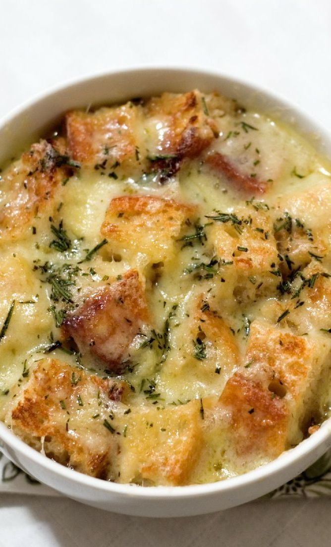 Onion Soup with Fontina and Thyme Recipe