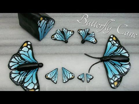 The best free butterfly wing cane tutorial I've found yet: DIY Butterflies - Polymer Clay Cane - YouTube