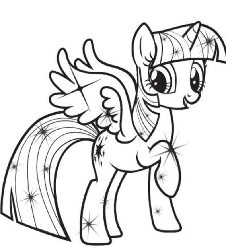My Little Pony Coloring Pages Princess Twilight Sparkle My
