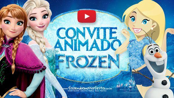 Convite Animado Virtual Frozen Gratis Para Baixar E Personalizar