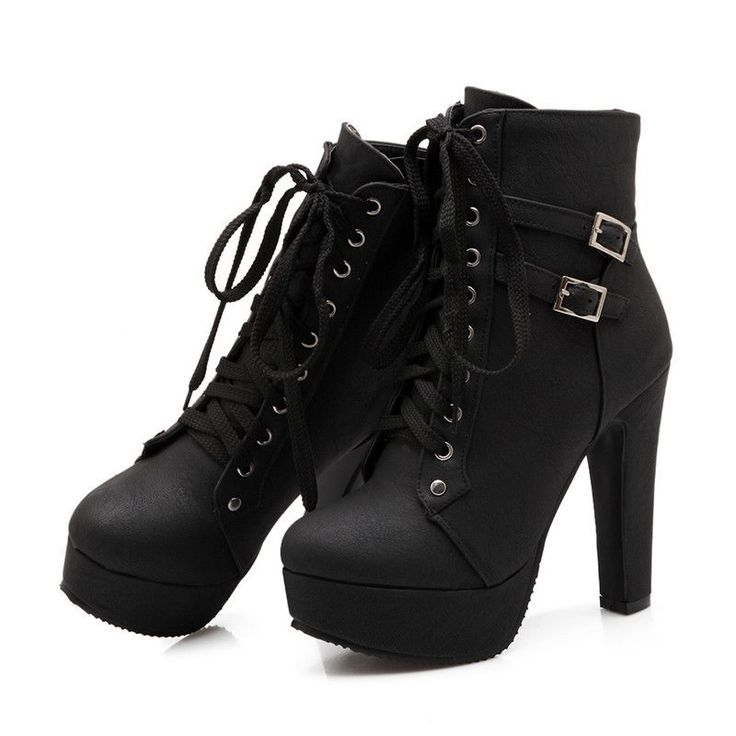 Shoe Width: Medium(B,M) Process: Adhesive Season: Spring/Autumn Platform Height: 0-3cm With Platforms: Yes Closure Type: Lace-Up Boot Height: Ankle Toe Shape: Round Toe is_handmade: Yes Insole Materia