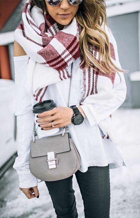 scarf + chloe bag