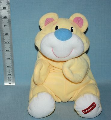1998 Fisher Price Yellow Rumples bear Plush