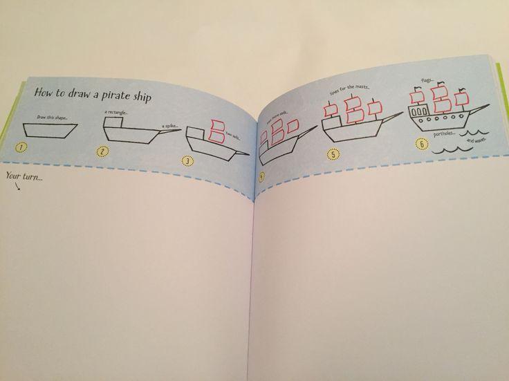 How to draw a pirate ship #raisasbooks http://org.usbornebooksathome.co.uk/RaisBooks/catalogue/catalogue.aspx