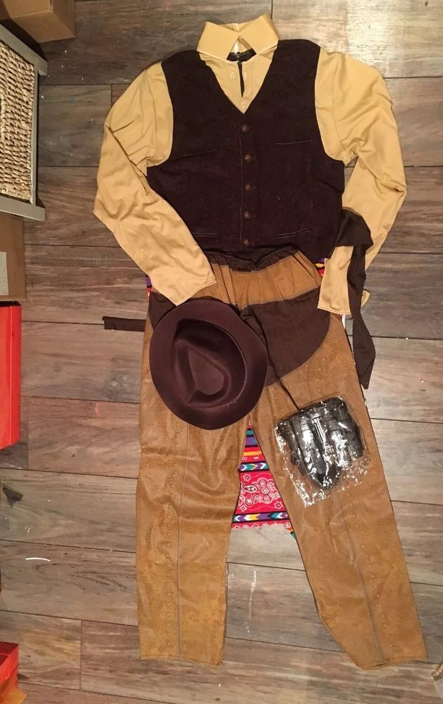 Adult COWBOY costume (Jake  Lonergan) Sz M great for any Western costume!  | eBay