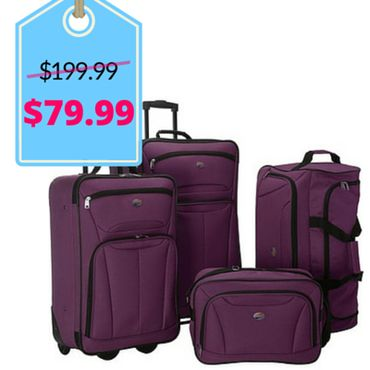 American Tourister Fieldbrook II 4 Pc Nested Luggage Luggage Set NEW (68% off) | Black Friday Luggage Deals