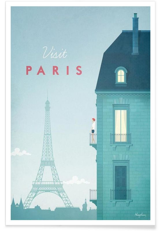 Paris en Affiche premium par Henry Rivers | JUNIQE