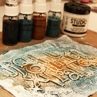 Lesley Langdon Tutorials: GESSO, CANVAS, CHIPBOARD and SHIMMERZ