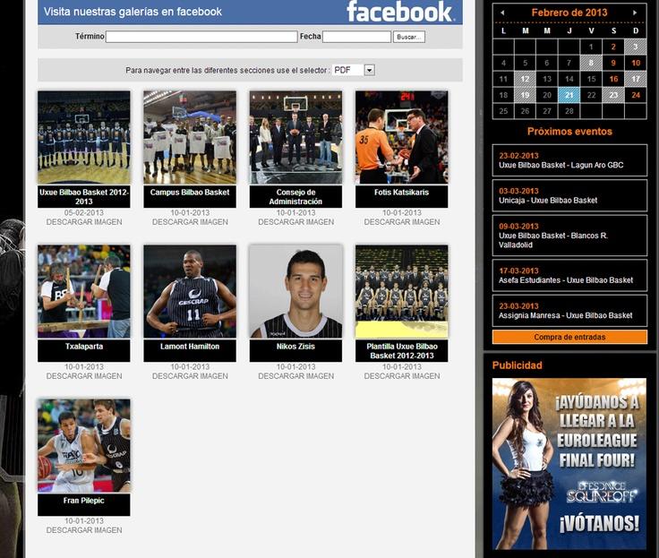 Pagina de la web que nos muestra su perfil de Facebook.