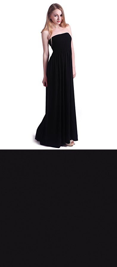 7ac3146040 HDE Women's Strapless Maxi Dress Plus Size Tube Top Long Skirt Sundress  Cover Up (Black, 4X)