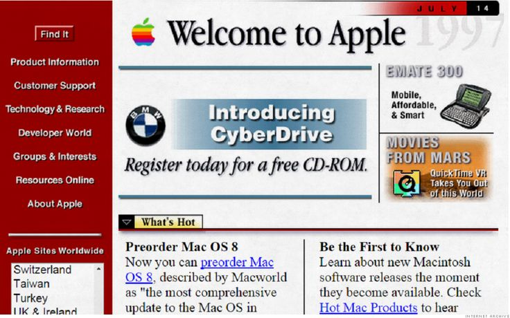 What your favorite websites looked like 20 years ago Paragon Monday Morning LinkFest