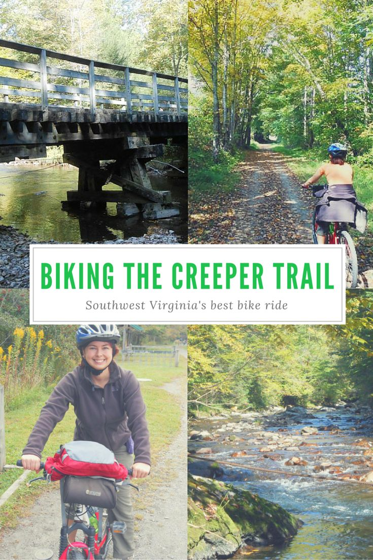The Virginia Creeper Trail is a scenic 34-mile bike ride from Whitetop to Abingdon, passing through Damascus halfway (a good stopping point option).  It's actually doable even if you can barely bike, as proved by this Creeper Trail Virginia story.