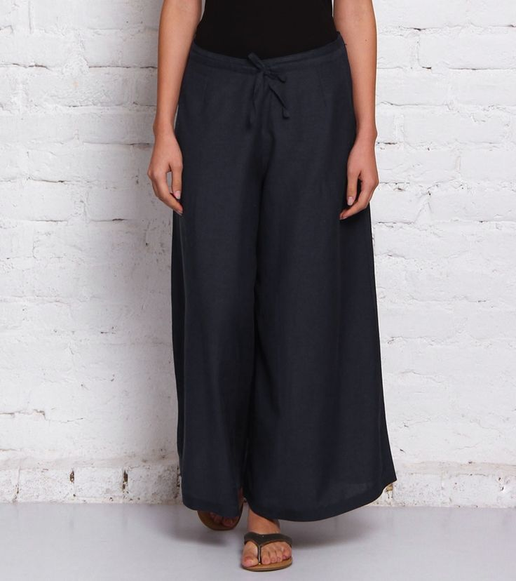 Indigo Linen Palazzos #indianroots #fusionwear #palazzos #linen #summerwear #casualwear