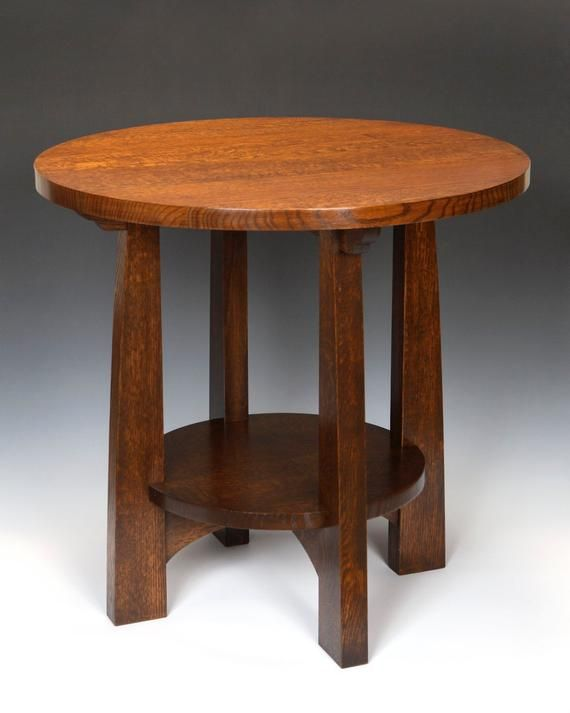 American Arts And Crafts Tabouret Table With Images Arts And
