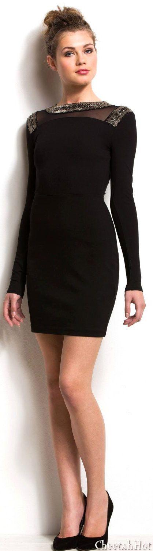 Armani exchange black shiny lace dress