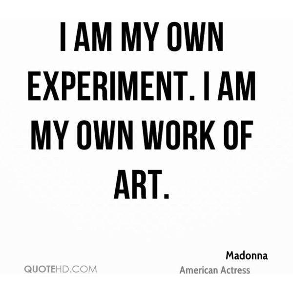 madonna quote via Polyvore