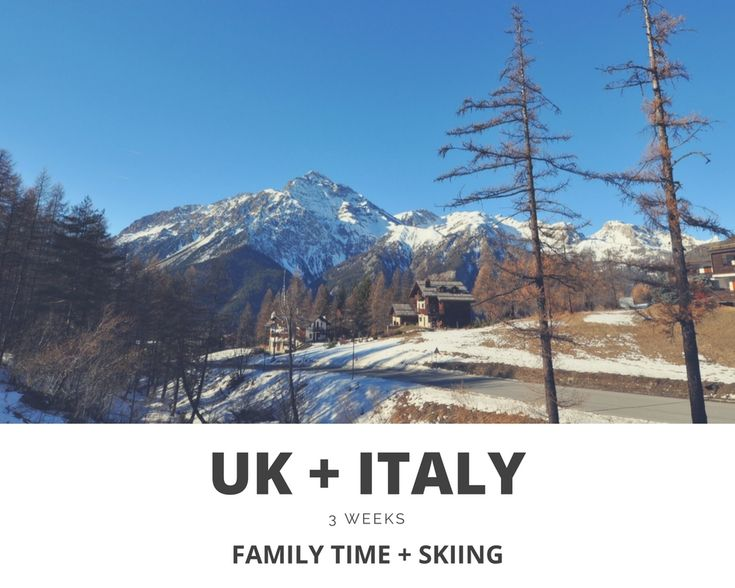 3 WEEKS IN THE UK + ITALY