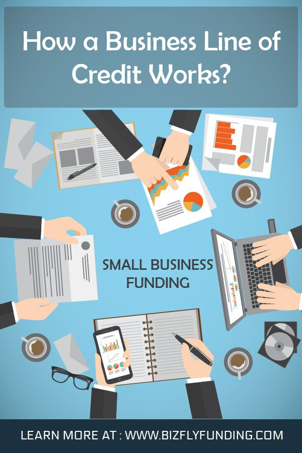 How A Business Line Of Credit Works Line Of Credit Small Business Funding Business Funding