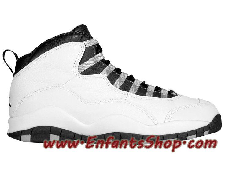 Air Jordan X (10) Retro Steel Grey 310805-101 Chaussures Jordan Basket Pas