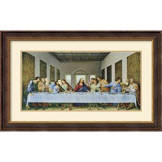 @Overstock - Enhance the look of any room with this traditional framed art print. This depiction of Leonardo da Vinci's 'The Last Supper, 1497' has natural tones that will easily match your decor. This horizontal piece has a bold black frame and is ready to hang.http://www.overstock.com/Home-Garden/Leonardo-da-Vinci-The-Last-Supper-1497-Framed-Art-Print/6716280/product.html?CID=214117 $217.99