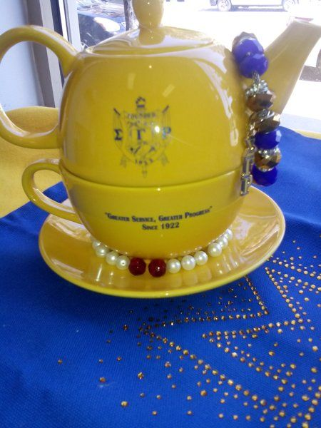 Sigma Gamma Rho Tea Gold for One Set | Greek Sorority apparel and accesories