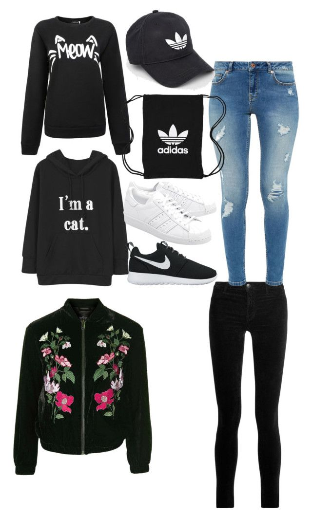 """""""Teenager Girl fashion"""" by mayerjudith ❤ liked on Polyvore featuring Topshop, J Brand, NIKE, Ted Baker, adidas Originals and adidas"""