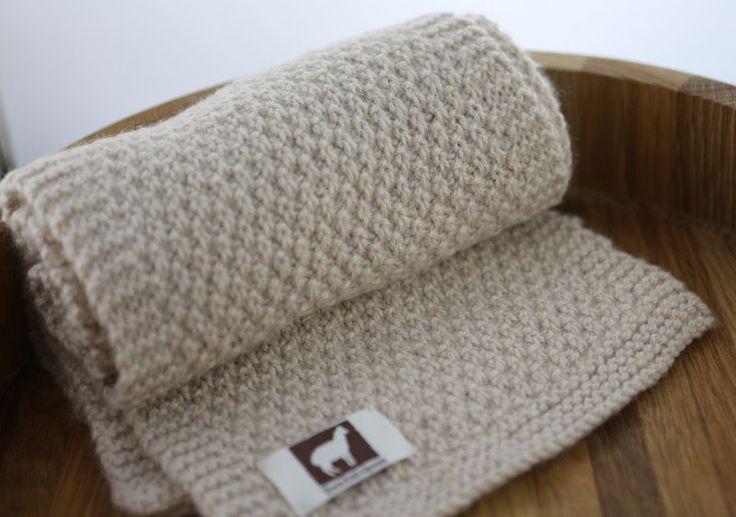 Aran Alpaca Moss Stitch Scarf Knitting Pattern in 2020 ...