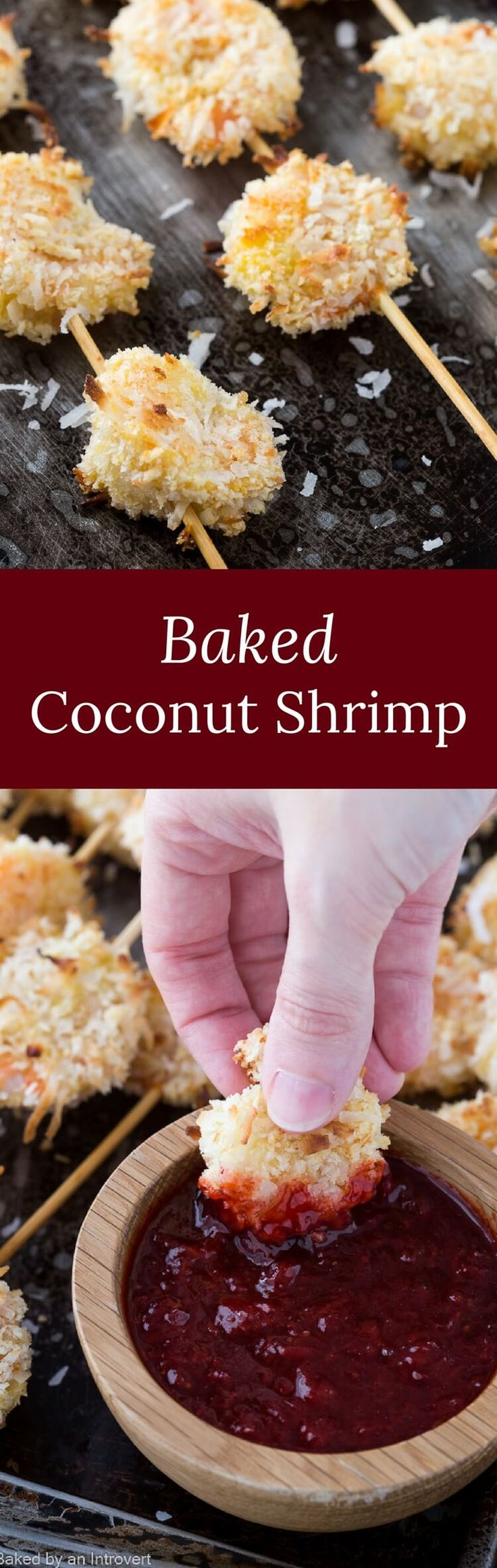 Baked Coconut Shrimp with Spicy Strawberry Chutney is going to be a big hit at your next dinner party. via @introvertbaker