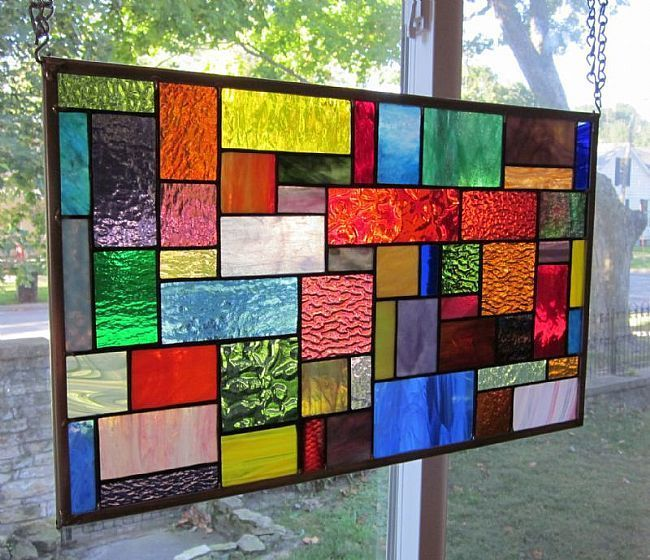Surge Stained Glass Window Panel Transom By Phil Petersen